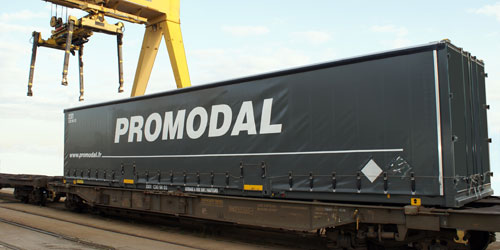 Promodal Combined road-rail piggyback